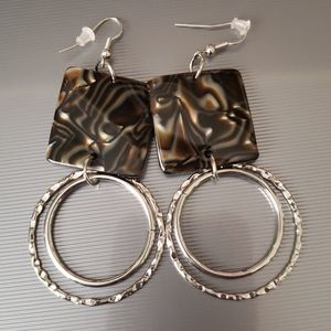 Brown Swirl Earrings